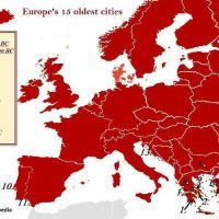 Οι 15 αρχαιότερες πόλεις της Ευρώπης - 10 οι Ελληνικές! - Το Άργος πρώτο (χάρτης)