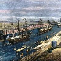 Κρανιδιώτικο ήταν το πρώτο πλοίο που πέρασε την Διώρυγα του Σουέζ